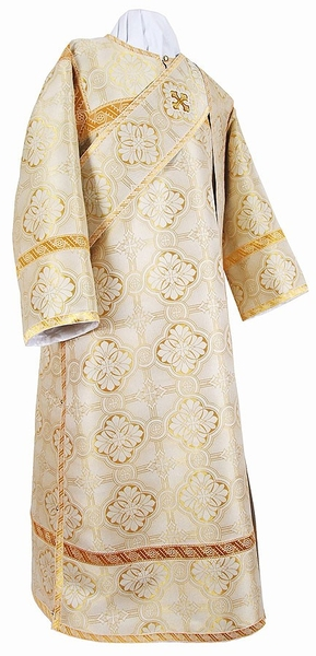 Deacon vestments - metallic brocade BG2 (white-gold)