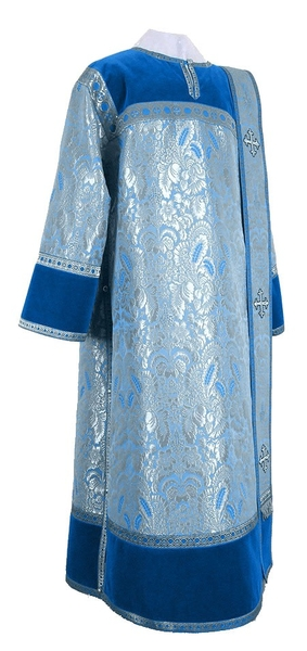 Deacon vestments - metallic brocade BG3 (blue-silver)