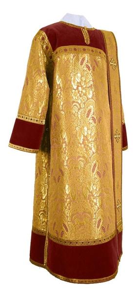 Deacon vestments - metallic brocade BG3 (yellow-claret-gold)