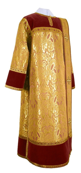 Deacon vestments - metallic brocade BG3 (yellow-claret-gold)