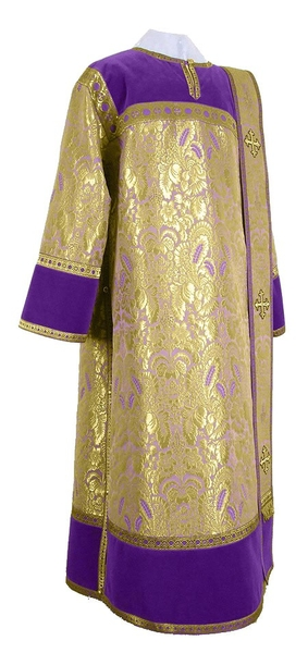 Deacon vestments - metallic brocade BG3 (violet-gold)