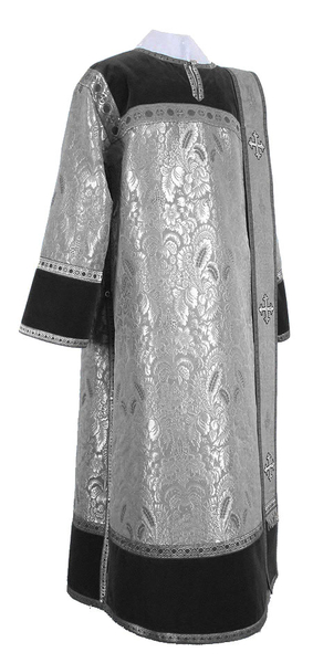 Deacon vestments - metallic brocade BG3 (black-silver)