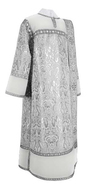 Deacon vestments - metallic brocade BG3 (white-silver)