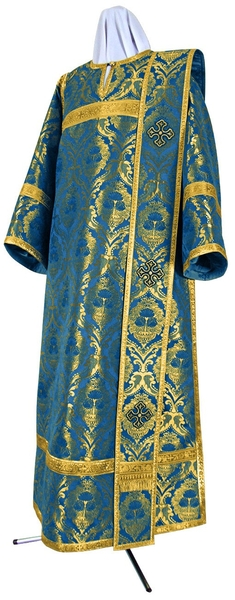 Deacon vestments - metallic brocade BG4 (blue-gold)