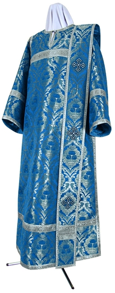Deacon vestments - metallic brocade BG4 (blue-silver)