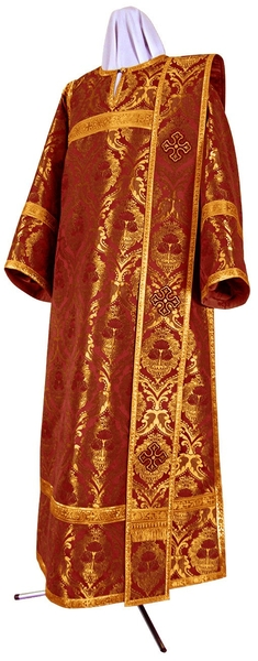 Deacon vestments - metallic brocade BG4 (claret-gold)