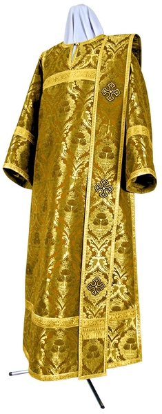 Deacon vestments - metallic brocade BG4 (yellow-claret-gold)