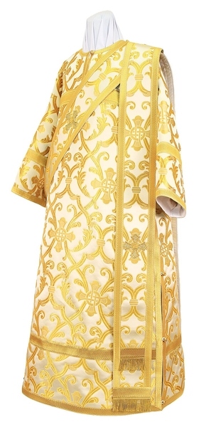Deacon vestments - metallic brocade BG4 (white-gold)