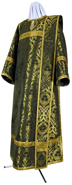 Deacon vestments - metallic brocade BG5 (black-gold)