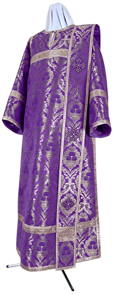 Deacon vestments - metallic brocade BG5 (violet-silver)