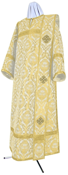Deacon vestments - metallic brocade BG5 (white-gold)