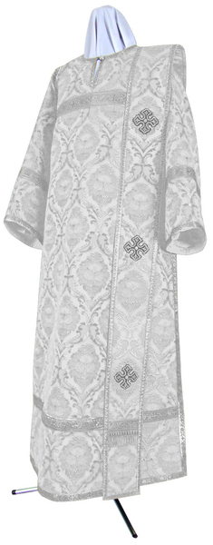 Deacon vestments - metallic brocade BG5 (white-silver)