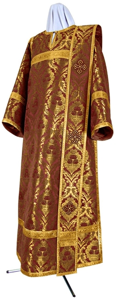 Deacon vestments - metallic brocade BG6 (claret-gold)