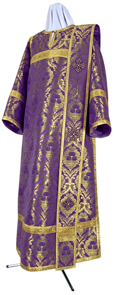 Deacon vestments - metallic brocade BG6 (violet-gold)