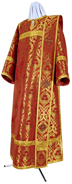 Deacon vestments - metallic brocade BG6 (red-gold)