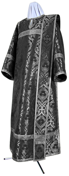 Deacon vestments - metallic brocade BG6 (black-silver)