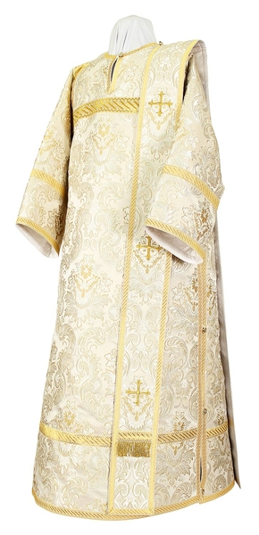 Deacon vestments - metallic brocade BG6 (white-silver)