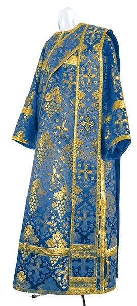 Deacon vestments - rayon brocade S2 (blue-gold)