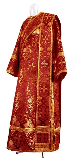 Deacon vestments - rayon brocade S2 (claret-gold)