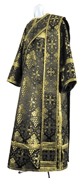 Deacon vestments - rayon brocade S2 (black-gold)