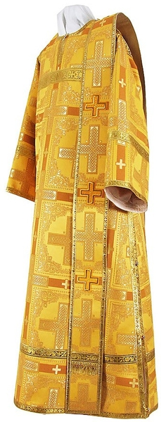 Deacon vestments - rayon brocade S2 (yellow-claret-gold)