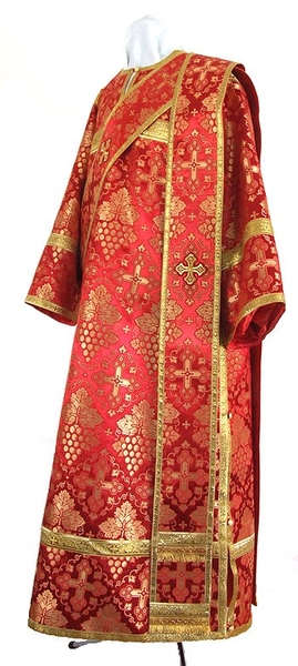 Deacon vestments - rayon brocade S2 (red-gold)