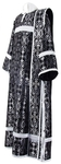 Deacon vestments - rayon brocade S2 (black-silver)