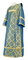 Deacon vestments - Kazan rayon brocade S3 (blue-gold), Standard design