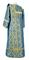 Deacon vestments - Kazan rayon brocade S3 (blue-gold) back, Standard design