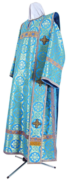 Deacon vestments - rayon brocade S3 (blue-gold)