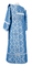 Deacon vestments - Kazan rayon brocade S3 (blue-silver) back, Standard design