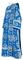 Deacon vestments - Kostroma rayon brocade S3 (blue-silver), Economy cross design
