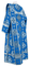 Deacon vestments - Kostroma rayon brocade S3 (blue-silver) back, Economy cross design
