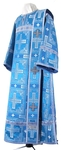 Deacon vestments - rayon brocade S3 (blue-silver)
