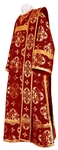 Deacon vestments - rayon brocade S3 (claret-gold)