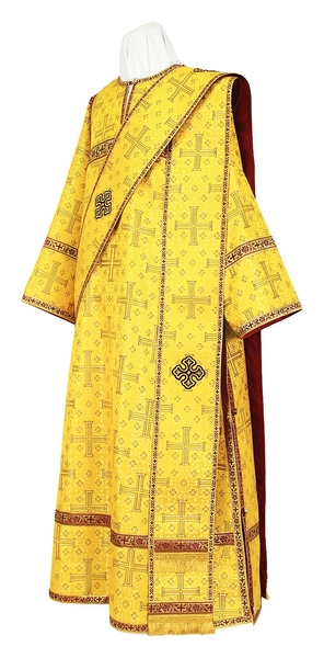 Deacon vestments - rayon brocade S3 (yellow-claret-gold)