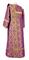 Deacon vestments - Kazan rayon brocade S3 (violet-gold) back, Standard design