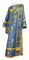 Deacon vestments - Bryansk rayon brocade S4 (blue-gold), Economy design