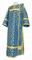 Deacon vestments - Cappadocia rayon brocade S4 (blue-gold), Economy design