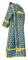 Deacon vestments - Cappadocia rayon brocade S4 (blue-gold), back, Economy design