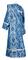Deacon vestments - Bryansk rayon brocade S4 (blue-silver) back, Economy design