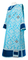 Deacon vestments - Bouquet rayon brocade S4 (blue-silver) with velvet inserts, Standard design
