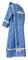 Deacon vestments - Cappadocia rayon brocade S4 (blue-silver), back, Economy design