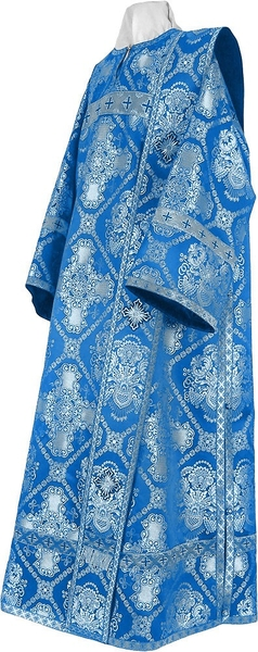 Deacon vestments - rayon brocade S4 (blue-silver)