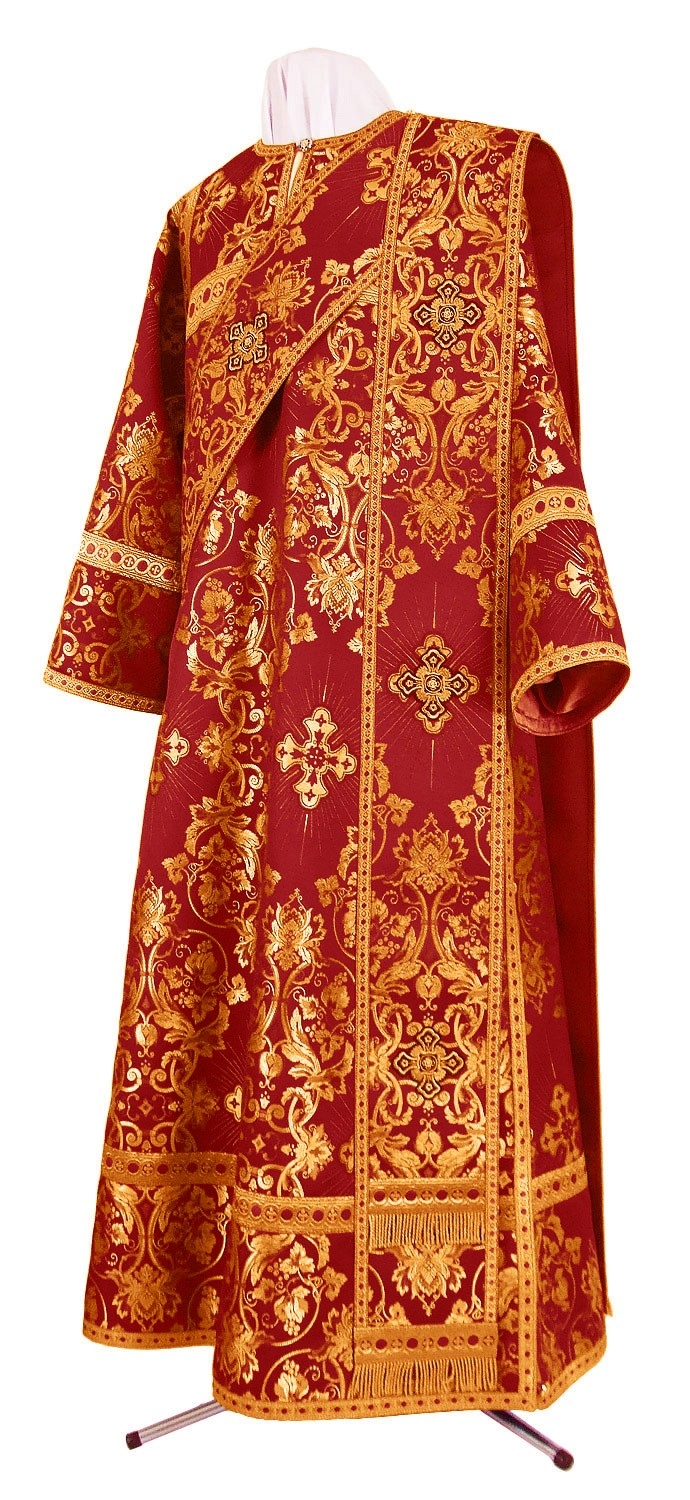 Image result for orangish red brocade vestment gown