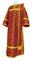 Deacon vestments - Cappadocia rayon brocade S4 (claret-gold), Economy design