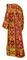 Deacon vestments - Thebroniya rayon brocade S4 (claret-gold) back, Standard design