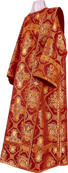 Deacon vestments - rayon brocade S4 (claret-gold)