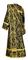 Deacon vestments - Bryansk rayon brocade S4 (black-gold) back, Economy design