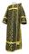 Deacon vestments - Cappadocia rayon brocade S4 (black-gold), Economy design